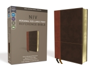 NIV, Personal Size Reference Bible, Large Print, Imitation Leather, Brown, Red Letter Edition, Comfort Print Cover Image