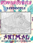Zendoodle - Crayons de couleur et marqueurs - Animal - Hippopotame Cover Image