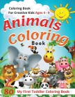 Animal Coloring Book - Ages 4 -9: 80 Best Educational Sheet for Kids Who Get Bored Easily... Cover Image