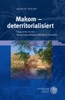 Makom - Deterritorialisiert: Gegenorte in Der Deutschsprachigen Judischen Literatur (Probleme Der Dichtung #54) Cover Image