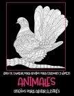 Libro de colorear para adultos para crayones y lápices - Diseños para aliviar el estrés - Animales Cover Image