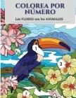 Colorea por número las flores con los animales Cover Image