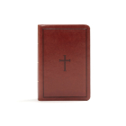 KJV Large Print Compact Reference Bible, Brown LeatherTouch: Red Letter, Ribbon Marker, Smythe Sewn,Two Column Text, Easy-To-Carry, Full-Color Maps Cover Image