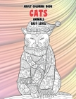 Adult Coloring Books Animals Easy Level - Cats Cover Image