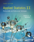 Applied Statistics II: Multivariable and Multivariate Techniques Cover Image