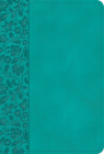 NASB Large Print Compact Reference Bible, Teal Leathertouch Cover Image