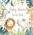 Safari Baby Shower Guest Book (Hardcover) Cover Image