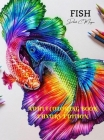 Fish Adult Coloring Book Luxury Edition: A Fun and Relaxing Fish Coloring Pages for Adults Stress Relieving Designs with Fish for Adults Premium Color Cover Image