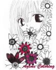 Anime Coloring: Coloirng Book Anime Style Perfect Gift For Anime Lover Cover Image