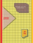 Graph Paper Notebook 8.5 x 11 IN, 21.59 x 27.94 cm [100page]: 1 cm squares 2pt [metric] perfect binding, non-perforated, Double-sided Composition Grap Cover Image