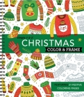 Color & Frame - Christmas (Coloring Book) Cover Image