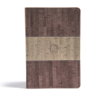 CSB Essential Teen Study Bible, Weathered Gray Cork LeatherTouch Cover Image