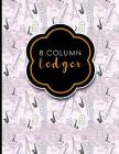 8 Column Ledger: Columnar Pad, Accounting Ledger Pad, Financial Ledger Book, Cute Paris & Music Cover, 8.5 x 11, 100 pages Cover Image