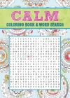 Calm Coloring Book & Word Search Cover Image
