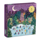 Merry Moonlight Skaters 500 Piece Foil Puzzle Cover Image