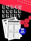 Bunco Score Sheet: V.11 100 Bunco Score Pad for Dice game / Bunco Scorekeeping / Score Keeping Book Large size Cover Image