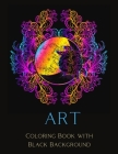 Art Coloring Book with Black Background Cover Image