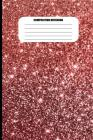Composition Notebook: Red Sparkly Abstract Design (100 Pages, College Ruled) Cover Image