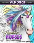 Fabulous Horses: Adult Coloring Book Cover Image