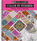 Brain Games - Color by Number: Stress-Free Coloring (Pink) Cover Image