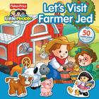 Fisher-Price Little People Let's Visit Farmer Jed Panorama Stickerbook Cover Image
