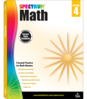 Spectrum Math Workbook, Grade 4 Cover Image