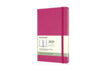 Moleskine 2021 Weekly Planner, 12M, Large, Bougainvillea Pink, Hard Cover (5 x 8.25) Cover Image