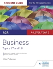 Aqa A-Level Business Student Guide 3: Topics 1.7-1.8student Guide 3 Cover Image