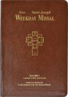 St. Joseph Weekday Missal, Volume I (Large Type Edition): Advent to Pentecost Cover Image