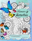 Floral coloring books for adults relaxation Butterflies and Flowers Cover Image