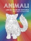 Libri da colorare Zentangle - Disegni animali alleviare lo stress - Animali Cover Image