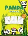 Panda Malbuch für Kinder: Wundervolles Panda-Aktivitätsbuch für Kinder, Jungen und Mädchen, tolles Tier-Malbuch mit Panda-Malerei für die ganze Cover Image