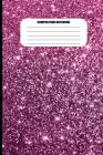 Composition Notebook: Purple Sparkles Abstract Design (100 Pages, College Ruled) Cover Image