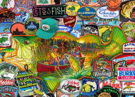 Let's Fish 1000-Piece Puzzle Cover Image