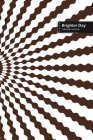 Brighter Day Lifestyle Journal, Blank Write-in Notebook, Dotted Lines, Wide Ruled, Size (A5) 6 x 9 In (Brown) Cover Image