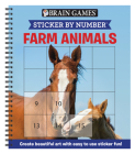 Brain Games - Sticker by Number: Farm Animals (Square Stickers): Create Beautiful Art with Easy to Use Sticker Fun! Cover Image