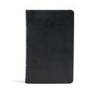 CSB Large Print Personal Size Reference Bible, Black LeatherTouch Cover Image