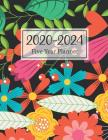 2020-2024 Five Year Planner: Multicolred Flowers Cover 5 Year Monthly Appointment Calendar with Holiday 2020-2024 Five Year Schedule Organizer Agen Cover Image