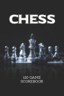 Chess Scorebook 120 Game: 6x9 inches score book for 90 moves records of chess club match & tournament 120 game (Beautiful Chessboard Theme) Cover Image