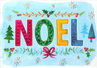 A Festive Noel Small Boxed Holiday Cards Cover Image