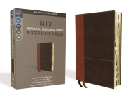 NIV, Personal Size Reference Bible, Large Print, Imitation Leather, Brown, Indexed, Red Letter Edition, Comfort Print Cover Image