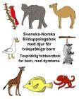 Svenska-Norska Bilduppslagsbok med djur för tvåspråkiga barn Tospråklig bildeordbok for barn, med dyretema Cover Image