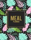 Meal Planner: Summer Pink Forest, 2019 Weekly Meal and Workout Planner and Grocery List Large Print 8.5