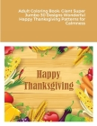 Adult Coloring Book: Giant Super Jumbo 30 Designs Wonderful Happy Thanksgiving Patterns for Calmness Cover Image