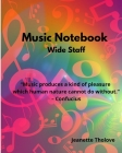 Music Notebook Wide Staff Cover Image