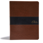 KJV Spurgeon Study Bible, Brown/Black LeatherTouch Cover Image