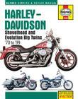 Harley-Davidson Shovelhead and Evolution Big Twins '70 to '99 (Haynes Service & Repair Manual) Cover Image