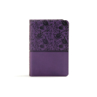 KJV Large Print Compact Reference Bible, Purple LeatherTouch: Red Letter, Ribbon Marker, Smythe Sewn,Two Column Text, Easy-To-Carry, Full-Color Maps Cover Image
