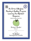 An Orton-Gillingham Reading & Spelling Program Learning the Alphabet Sequence: Upper and Lower Case Print Cover Image