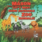 Mason Let's Meet Some Adorable Zoo Animals!: Personalized Baby Books with Your Child's Name in the Story - Zoo Animals Book for Toddlers - Children's Cover Image